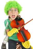 Humour jeunesse, enfant surpris joue du violon poster