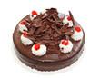 Шоколадный торт на белом фоне, фото 1999088.