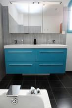 En grey i niebieskim, turkus łazienka # 2