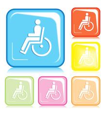 Simbolo quadrato handicap