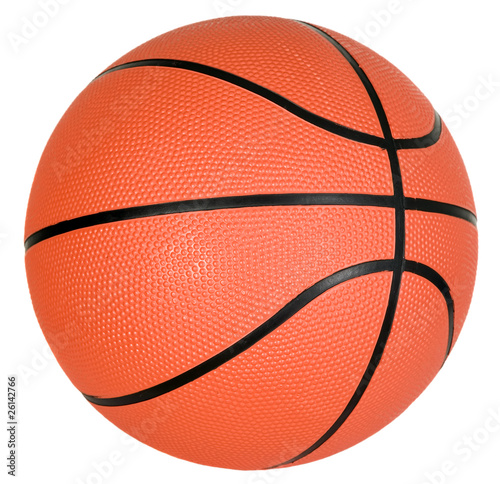 Orange basketball ball