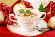 mushroom soup with cream for christmas - 26143393