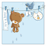 Fototapety It's a boy announcement card