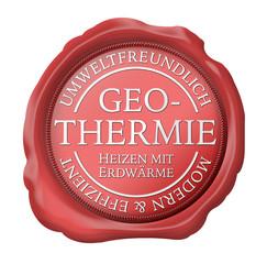 geothermie erdwärme haus neubau siegel button