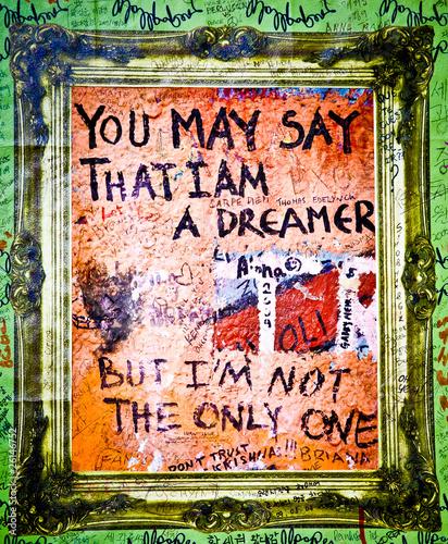 Fotobehang Praag Muro de John Lennon - Dreamer (Praga) Toma 2