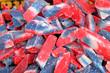 bonbons fondants tricolores
