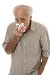 Senior with cold flu