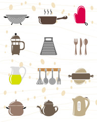 kitchen object icon set