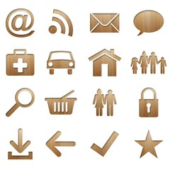 wood icon set (natural version)