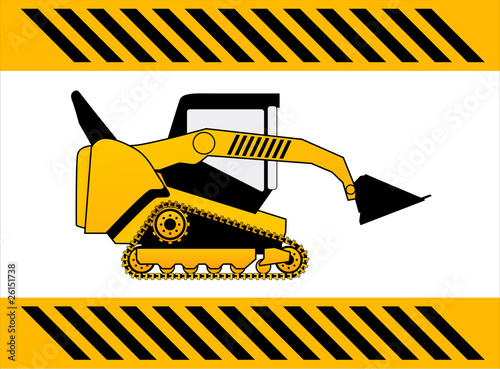 bulldozer, construction machine vector