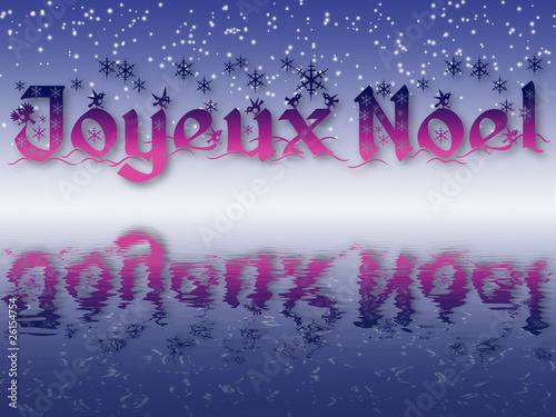 Poster la neige fond le jour de noël