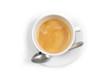 Tazzina di caffè dall'alto