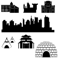 Vector houses