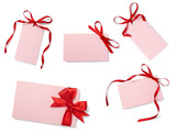 red ribbon card note collection