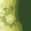 roleta: Floral background in green colors