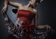 beautiful model dressed as fashion fairy