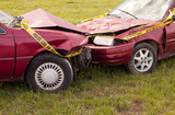Automobile Crash Closeup