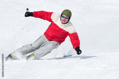 Perfect skiing downhill