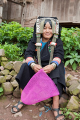 Hill tribe in Phongsal, Laos