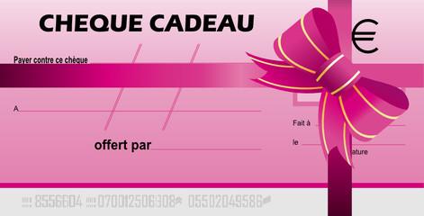 chèque cadeaux rose