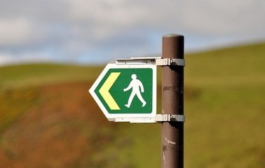 Right of way sign