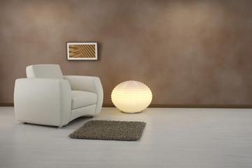 Design interior. Armchair in modern room
