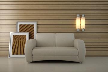 Design interior. Sofa in modern room