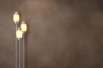 Modern lamps. Soft lighting