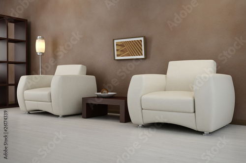 Design interior. Armchair in modern room