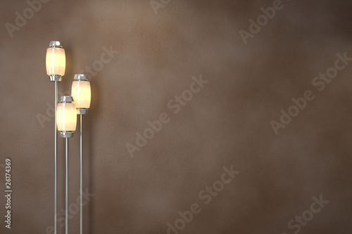 Modern lamps. Soft lighting