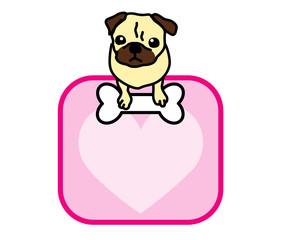パグ 犬 メッセージカード