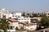 rooftop cityscape view of Larnaca Cyprus hotels condos apartment poster