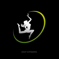 logo entreprise, sport femme