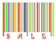 Sale bar code illustration