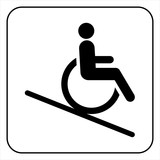 lift disabled icon  sign vector poster