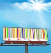Billboard with sale ad