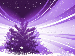Silhouette Christmas tree background