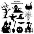 Collection of Halloween elements, vector illustration