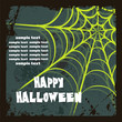 Halloween background with spider's web, vector illustration