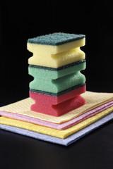 sponge and napkin