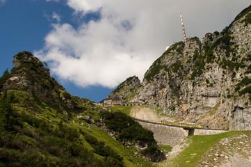Wendelstein Zahnradbahn Bergbahn klein Gebirge Berg