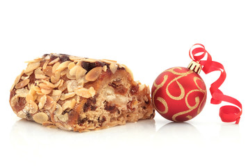 Stollen Cake and Christmas Bauble