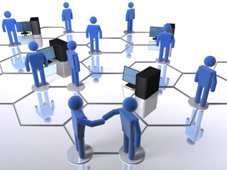 Computer network within a business network