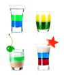 Shot cocktail collection - Стоковая фотография.