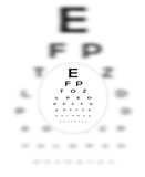 Corrective Contact Lense Focuses Eye Chart Letters Clearly