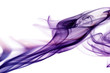 Leinwandbild Motiv Purple smoke in white background