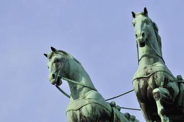 Detail der Quadriga auf dem Brandenburger Tor