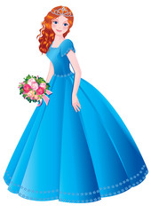 Beautiful princess. Vector art-illustration.