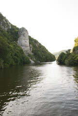 Rock sculpture of Decebal on Danube river