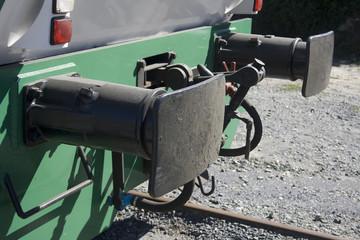 Parachoques frontal de tren o ferrocarril